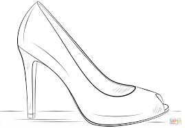 High Heel Shoe Coloring Page And Pages Shoes Printable