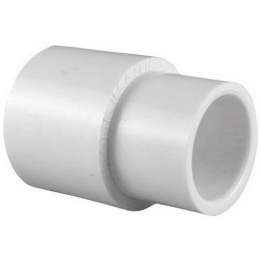 "Charlotte Pipe PVC Coupling - 1"" x 3/4"", White"