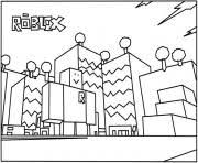 Printable Roblox Building Coloring Page Pages