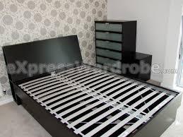 Mandal Headboard Ikea Uk by Bedroom Decorative Hacked Expedit Storage Headboard Ikea Hackers