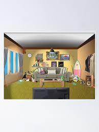 chaotisches wohnzimmer poster
