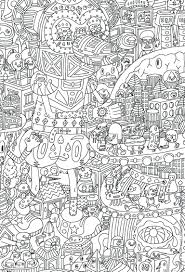 An Intricate Coloring Page Adults Featuring Aliens Detailed Pages Printable Free Pdf Christmas Full Size