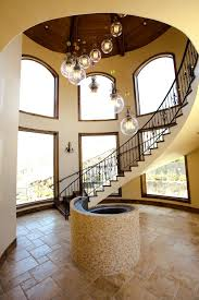 Tuscan Home Interior Stair Case