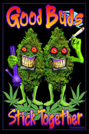 1695 Good Buds Stick Together 24 X 36
