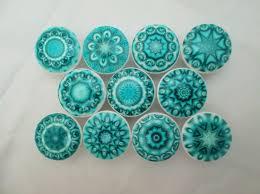 Babies R Us Dresser Knobs by Set Of 10 Aqua Blue Mandala Cabinet Knobs Mandalas Medallions