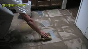 cleaning grout tile floor kitchen renovation project