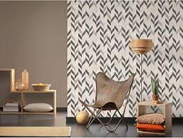 patterned wallpaper minimaltistic wohnzimmer tapete moderne