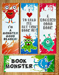 Use These Adorable FREE PRINTABLE BOOKMARK COLORING PAGES To Get The Kids Interested In Reading And Coloring Page Bookmarks Monsters