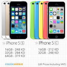 Apple iPhone 5S & iPhone 5C Prices in Apple UK