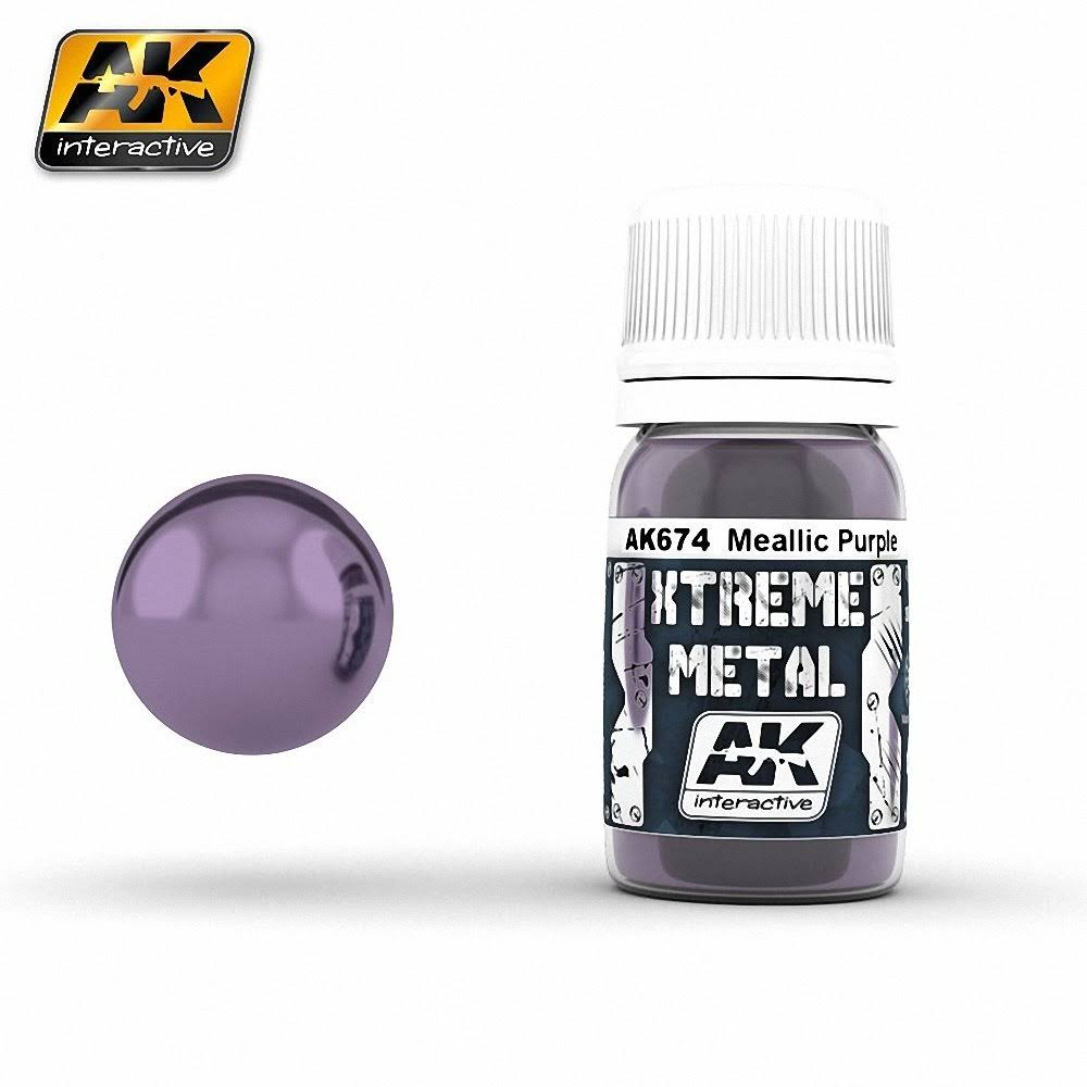 AK Interactive 30ml 00674 Xtreme Metal Paints - Metallic Purple