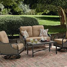 Ty Pennington Patio Furniture Parkside by La Z Boy Outdoor Charlotte 4 Piece Seating Set Shop Your Way