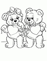 Cool Design Ideas Teddy Bear With Heart Coloring Pages