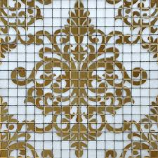 glass tile gold mosaic collages design interior wall tile