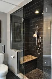 charcoal black pebble tile master bathrooms small master bath