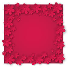 Paper Cut Flower Background