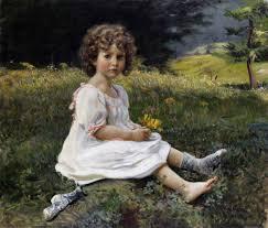 girl in white dress meadow gottfried hofer