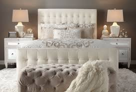Magnificent Bedroom Ideas For Women With Tufted Headboard Also Small Ottoman Design