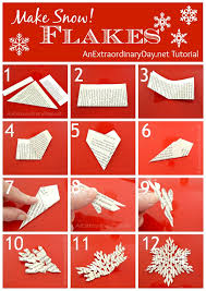 Make Snowflakes Snowflake Pictorial Tutorial AnExtraordinaryDay