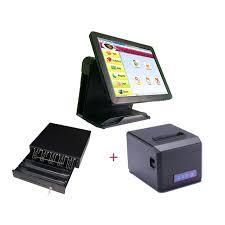 caisse bureau syst m 15 écran tactile tout en un pos système caissier pos machine
