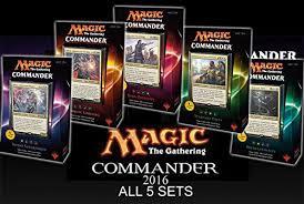 Premade Commander Decks 2017 by Amazon Com Commander 2016 Mtg Magic The Gathering Set Of All 5