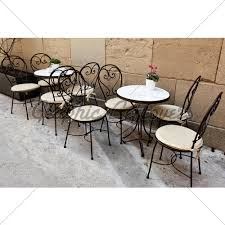 Fabulous Outside Cafe Tables Gl Stock Images