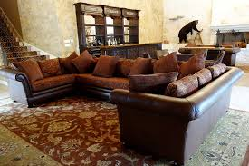 Adorable Ranch House Design Chesterfield Sectional Sofa Decorative Home Furniture And Saloon Bar Dark Chocolate Modern