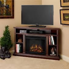 Living Room With Fireplace In The Middle by Altra Overland 47 6 In Electric Corner Fireplace Espresso