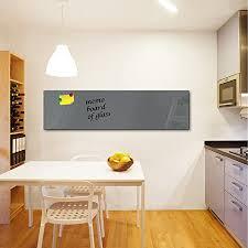 dekoglas glas magnettafel einfarbig grau fmk 52 073 magnetwand memoboard 150x40 cm wandtafel für küche wohnzimmer pinnwand magnetisch
