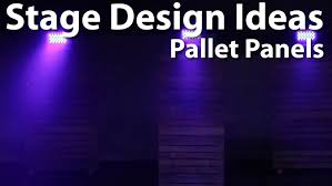 Church Stage Design Pallet Panels