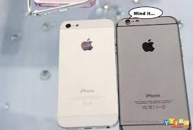 pare the size of the Apple iPhone 6 with the Apple iPhone 5