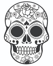 Stunning Design Ideas Halloween Coloring Pages FREE Printable For Adults Sugar Skull With