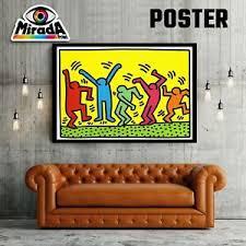 details zu poster kunst keith haring the dancers tanz farbe gute laune bewegungsmelder top