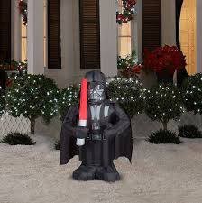Halloween Blow Up Decorations For The Yard by Amazon Com Star Wars Darth Vader Lighted Airblown Inflatable