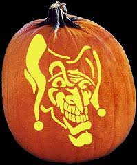 Joker Pumpkin Carving Patterns by Spookmaster The Jokes On You Clown Skull Joker Pumpkin