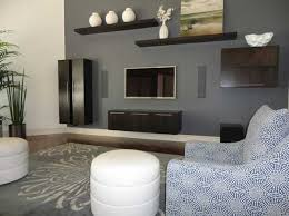Modern Interior Design Decor And Paint Colors Blue Brown Gray Color Combination