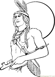Online Indian Coloring Pages 93 For Your Picture Page With