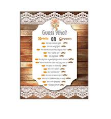 Bridal Shower Game Guess Who Couples By TheVintagePen