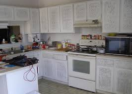 Sponge Painting Kitchen Cabinets White Paint Cluttered Counters Chandler Arizona Home House