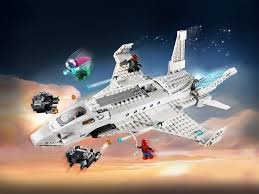 100 Lego Space Home 76130 Stark Jet And The Drone Attack Review