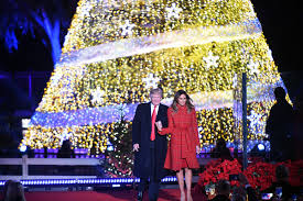 President And Mrs Trump Attend National Christmas Tree Lighting Ceremony