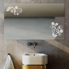 fiora ii design spiegel mit floralem motiv beleuchtet fürs bad