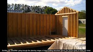 10x12 Shed Material List by Shed Plans 8x10 Youtube