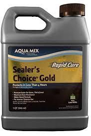 aqua mix sealer s choice gold quart 32 ounce tile grout