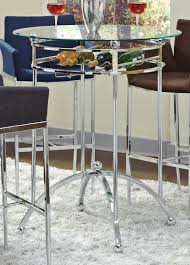 Coaster Fine Furniture 120335 Modern Bar Height Table With Glass Top Round High Glass Top Bar Table And Minimalist Adjustable Swivel Home Design Ideas Images On Breathtaking Modern Dimensional In Stainless Steel Chrome With Black Tempered Display Cabinet Small Gammaphibetaocucom Bar Admirable In Kitchen With Counter White Vanity Clear For Displaying Makeup Make Rustic Height Set 5 X 7 Outdoor Rugs Vase Entrancing Bistro Stools Cleaning Pedestal Pub 42 Ding Aosom Hcom 28 Tables Green Accent Open Bars Contemporary Unit Fniture Luxurious