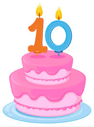 Cake clipart 10 candle Pencil and in color cake clipart 10 candle
