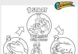 Coloring Sweet Idea Hand Washing Pages 18 Kids Page Wash Hands
