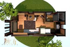104 Tree House Floor Plan Artstation Tiny 3d Model Garrett S