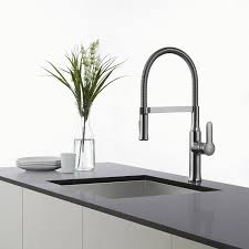 Commercial Kitchen Faucets Amazon by Kraus Kpf 1640ch Modern Nola Single Lever Flex Commercial Style