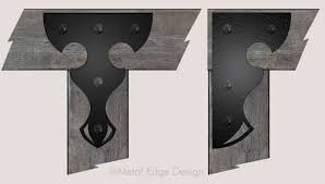 Black Decorative Joist Hangers by Decorative Metal Brackets For Wood Beams Iron Blog