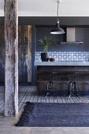 Love This Rustic Kitchen Featuring Cement Tiles And Bench Top Timber Details With Overdyed Turkish